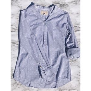 Banana Republic soft wash button down polkadot Sm